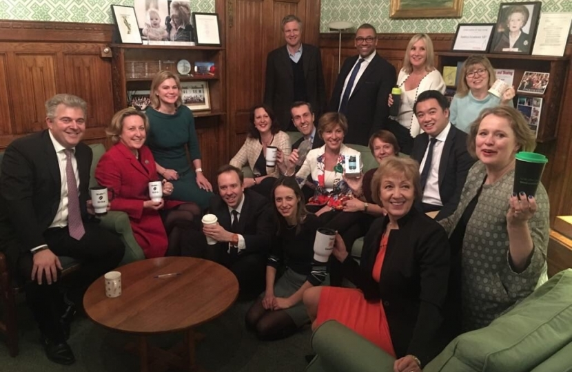 With my parliamentary colleagues who are all committed to reducing the amount of single use non recyclable plastic we use during Lent and beyond.
