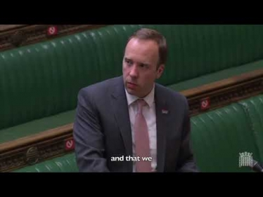 Embedded thumbnail for My Question to the Health Secretary about Wedding Receptions